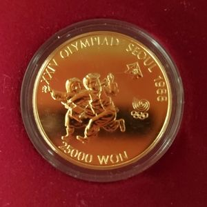 1988 Seoul Olympic 1/2 Oz Gold Coin w/ Box COA